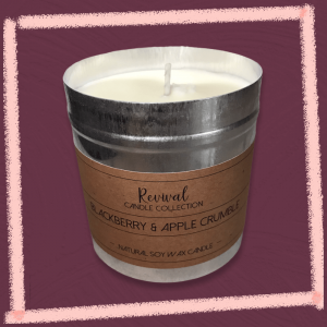 blackberry apple crumble candle