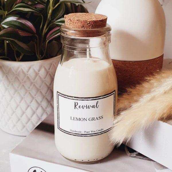 lemongrass soy wax candle