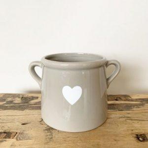 grey pot white heart