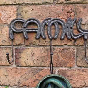 cast iron family wall hooks