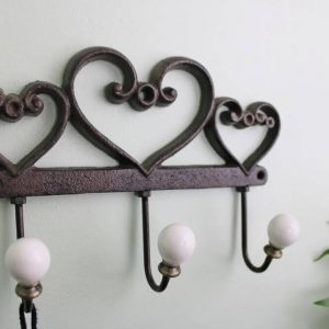 cast iron heart wall hooks