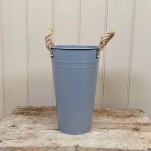 grey flower bucket 25cm