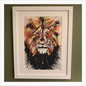 Lion Acrylic Paint Print