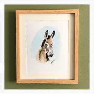 little donkey watercolour print