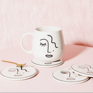 abstract design face mug