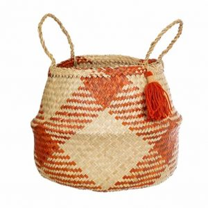 check terracotta seagrass basket