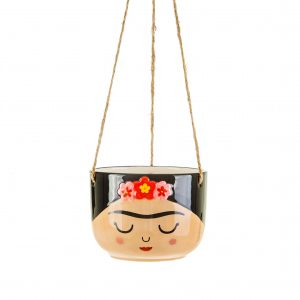 frida kahlo hanging planter
