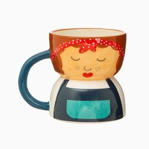 Libby face ceramic mug