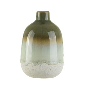 Ombre effect green vase