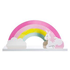 rainbow magical unicorn shelf